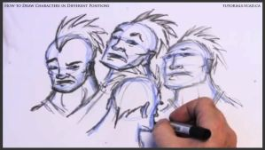 Learn to draw characters in different positions 23 by drawingcourse