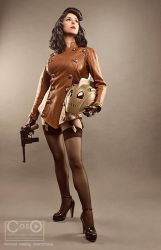 Bettie Page as the Rocketeer by Riddle1