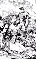 Wonder Woman And Superman by miltonwiller