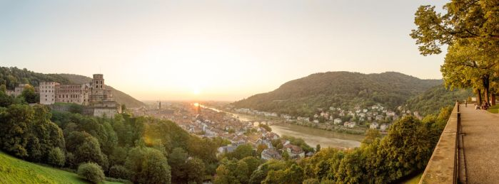 Heidelberg Sunset Panorama by donnosch