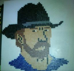 Chuck Norris - Perler or Hama by Chrisbeeblack
