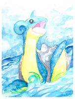 Lapras Watercolor Painting by MoogleGurl