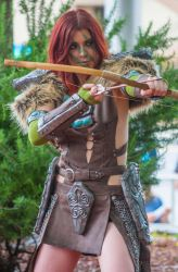 Skyrim: Aela at the ready by Oreparma