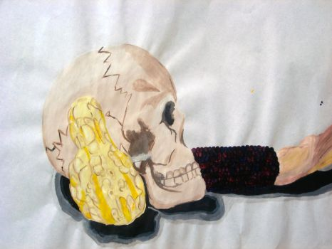 Skull Assignment by VaughanFawn