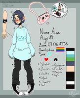 .::Commission: Alan reference sheet::. by NikiDraw