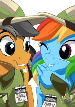 Rainbow Dash and Quibble Pants by mysticalpha