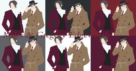 Miles and Gregory Minimalist Wallpaper by RavenclawChic