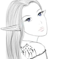 Free Sketch 1- Arenne by PenthesileiaRavyn