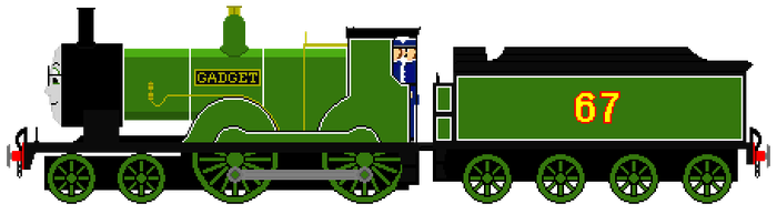 Gadget the LSWR T9 Class Engine by JamesFan1991