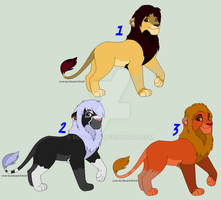 Male Lions Breedables 2 - CLOSED - by Soufroma