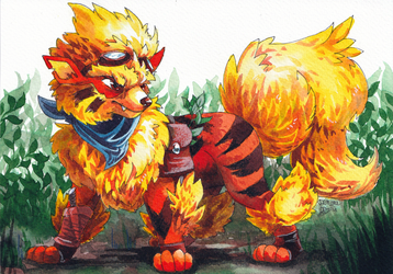 Arcanine commission by Denouu