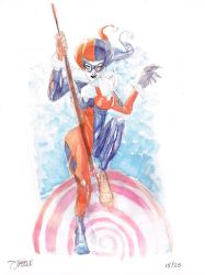 25 Days of DC - Harley Quinn by JeremyTreece
