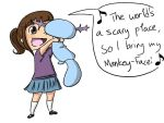 Isabel and Mankey-Face by MeowMix72