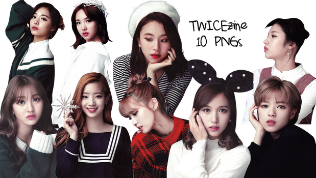 TWICE PNG Pack {Twicezine 2017} HQ by soshistars