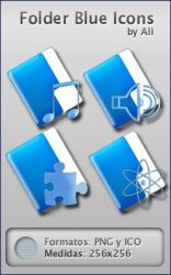 Folder Blue Icons by alidesign