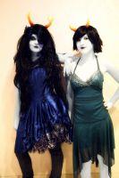 Vriska and Kanaya by AngelDictator