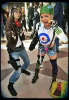 Jet Girl and Tank Girl by ToxicRainbowsx