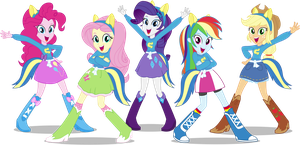 MLP EqG: Wondercolts Pose by CaliAzian