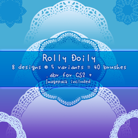 Rolly Doily - PS Brushes by kabocha