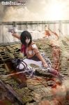 Mikasa Ackerman from Attack on Titan cosplay blood by yukigodbless