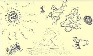 Notepad Doodles #5 by wafitz