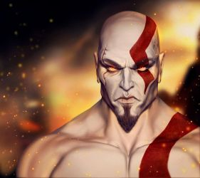 Kratos GOW 3 by AresNeron