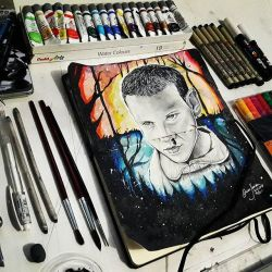 Drawing Completed | ELEVEN - Stranger Things by Oscarliima