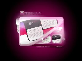 Pink Design Web Site by caglarsasmaz