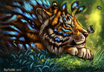 Tiger dreams by FlashW