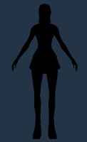 Girl Silhouette Turntable WIP by Poribo