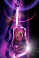 Ultraviolet Acoustic Guitar by bullispace