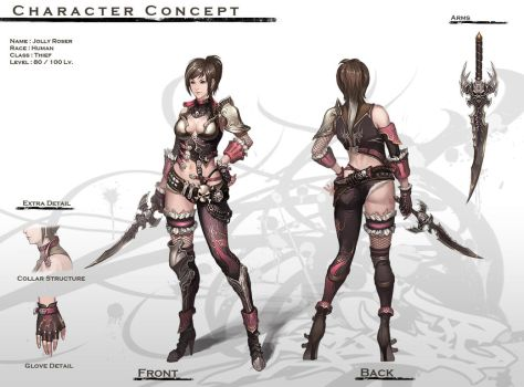 Concept : Human Female Thief by reaper78