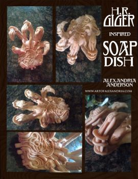 H.R. Giger inspired soap dish by Kiiku