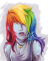 rainbow dash style by angxel