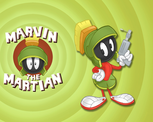 Marvin the Martian Wallpaper by E-122-Psi