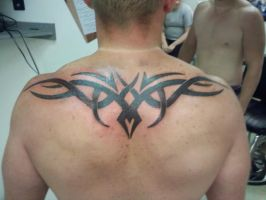 Tribal back piece by Timtat2