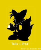 Tails + iPod by Uncemister