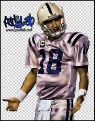 PEYTON MANNING PSD by psdlab