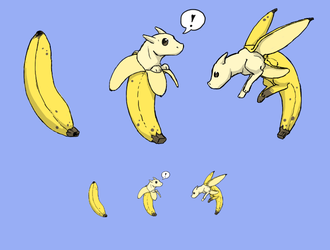 Squiby - banana dragon by cheetahtrout