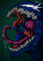 Spiderman and venom Colored by GrimmjowJaggerjack52