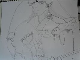 Sesshomaru and Rin - Holding You -- Inked by I230