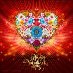 Valentine Flower Heart by Lilyas