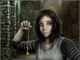 -I have the key now- by Frandoll-Scarlet