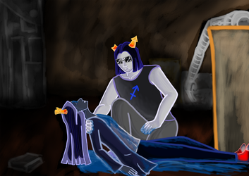 Vriska And Equius by kliudom