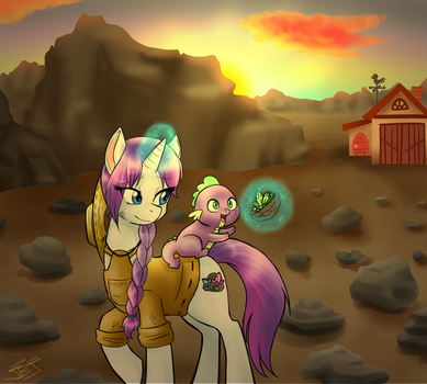 Just a Little Snack-Sunset (Eclipseverse) by crowmagnon