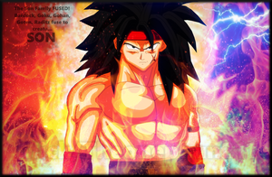 SON: The 5 man fusion of Goku's Family! (Colored) by TheOnePhun211