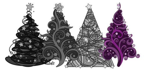 Asexual Christmas Trees by lovemystarfire