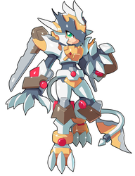 Commission: Ashe and Zoids Fusion by ultimatemaverickx