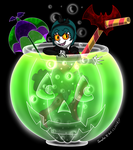 BadLuckAlice Halloween Party Drink 4 MakoPandaFox by Colorfulmoongato