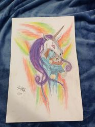 Remake of Alex Pardees drawing Team Unicorn by livvyfivvy